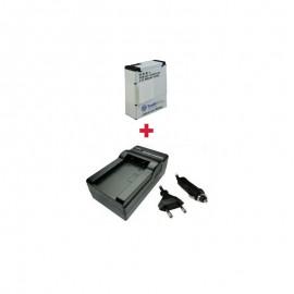 Kroviklis + Baterija AHDBT-301 AHDBT-201 GOPRO 3,7V 960mAh / 3,6Wh (AK197)TR
