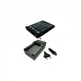 Kroviklis + Baterija 1000mAh/3,7V PENTAX OPTIO DLI63 DLI-63 DL-I63 D-LI63 (TR)