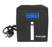 Green Cell, 1000VA (600W)  nepertraukiamo maitinimo šaltinis (ups) Linijinis interaktyvus AVR (5902701419639)