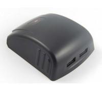 "Akumuliatoriaus adapteris su 2x USB jungtimi, tinkamu ""Bosch"" 14.4V, 18V (800111784)"